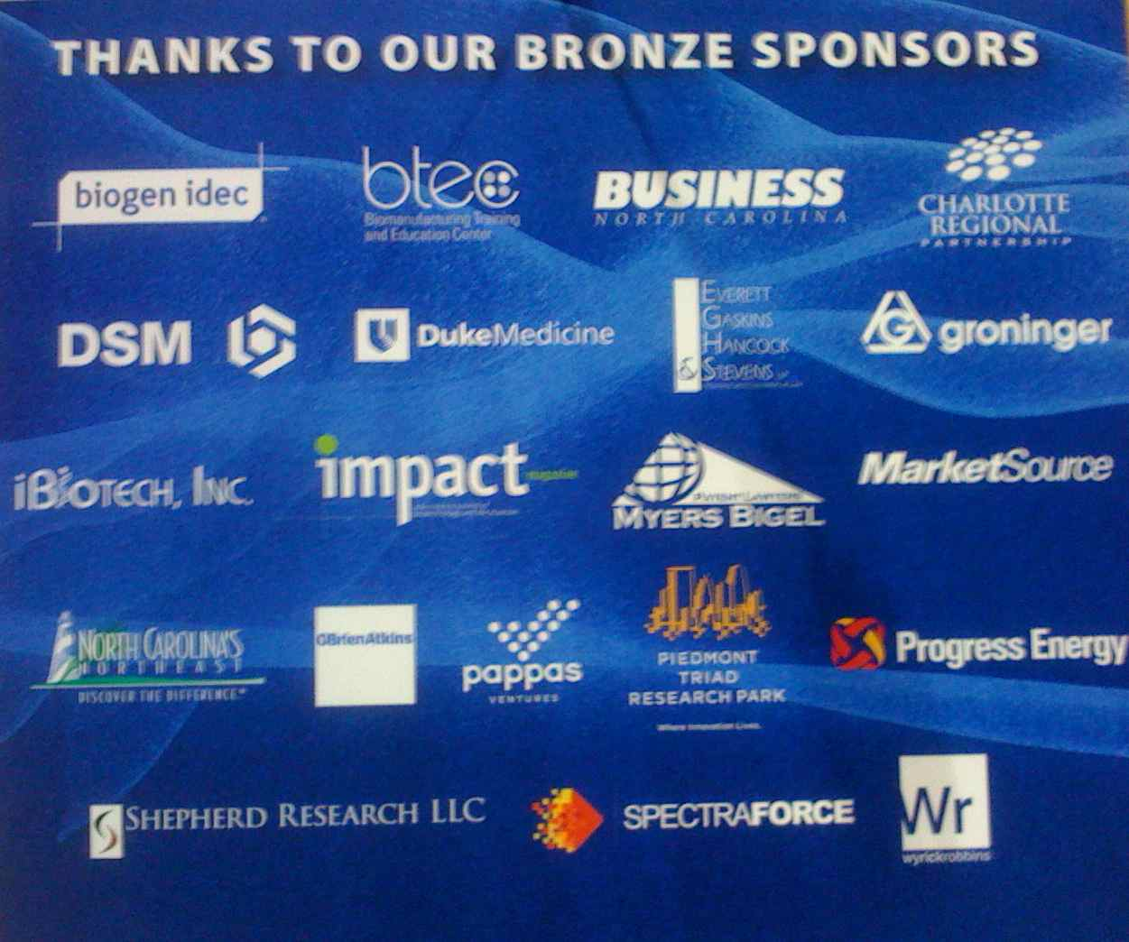 Bio2010 logo of bronze sponsorship